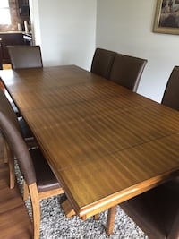 8 chairs and dining table Calgary, T1Y