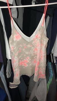 white and pink floral tank top 839 mi