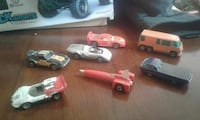 seven toy cars