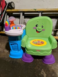 Fisher Price Chair and Side Table
