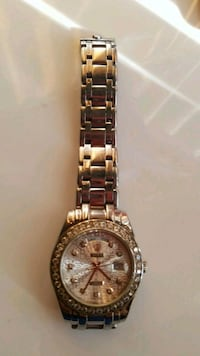 round silver-colored analog watch with link bracelet San Jose, 95112