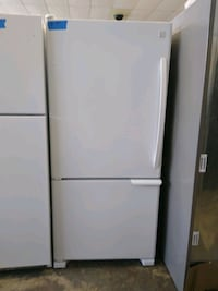 Kermore top and bottom white refrigerator