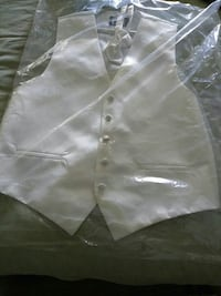 White Men Vest and Bow Large