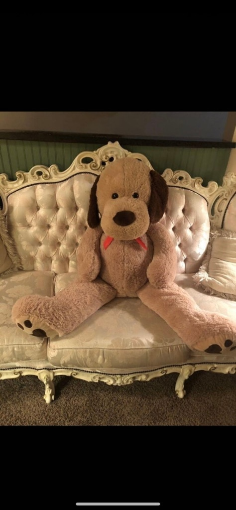 Photo Kreative kids Beige 5ft Life size Giant stuffed puppy toy