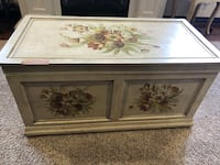 Hand painted storage chest