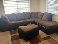 black and brown sectional couch Albuquerque, 87121