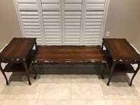 Set of 3 coffee and two side tables excellent condition Brampton