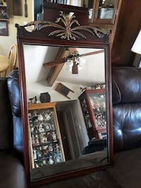 brown wooden framed glass display cabinet Falling Waters, 25419