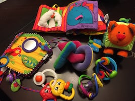 Crib and baby toys