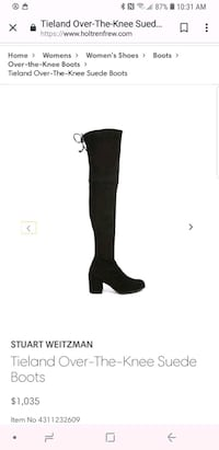 STEWART WEITZMAN OVER THE KNEE BOOTS BRAND NEW IN Mississauga, L5L 4M6