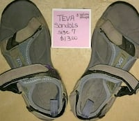 pair of gray-and-black sandals West Milford, 07421