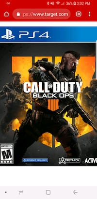 Call of Duty Advanced Warfare PS4 game disc Universal City, 78148