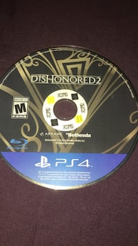 PS4 game Dishonored 2 no case