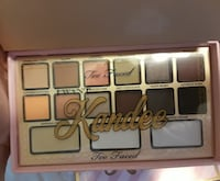 pink Too Faced Kandee makeup palette case
