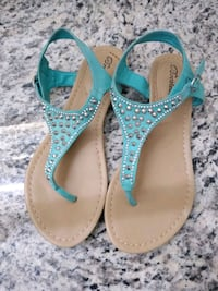 96f029ba7f851 Used Brekelle s Teal Rhinestone Sandals for sale in Conyers - letgo