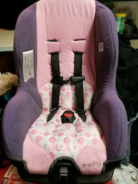 baby's pink and gray car seat 75 km