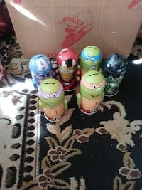 six Marvel and TMNT coin banks Carmichael, 95608