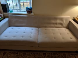 Pier 1 Nyle Stone Sofa Couch