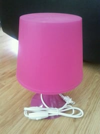 Pink and white table Baby lamp Brand new Edmonton, T6K 2P9