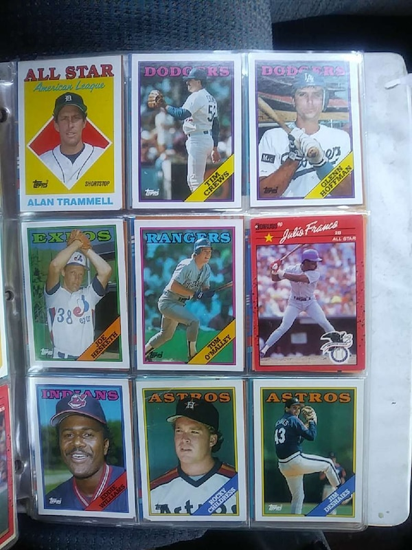 Used Nine Baseball Trading Cards Collection For Sale In
