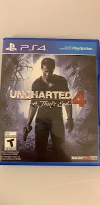 Sony ps4 uncharted 4 a thief's end case Burnaby, V5H