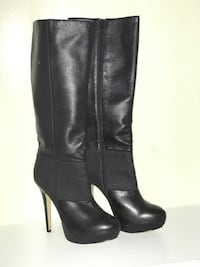 Premium Leather Boots with snake skin design