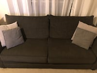 Dark Green Couch/Sofa with Pillows Lorton, 22079