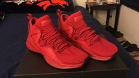 pair of red Air Jordan basketball shoes with black box Peoria, 85345