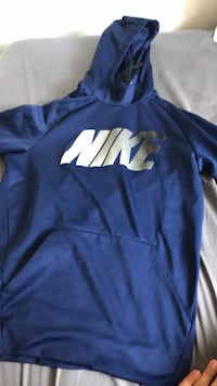 blue and white Nike pullover hoodie Aurora, 80239