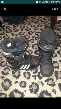 pair of black-and-white Adidas boots screenshot