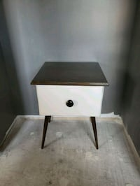 white and brown wooden side table Toronto, M6G