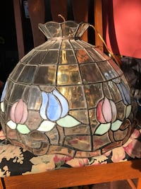 Vintage stained glass light chandelier