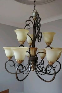 "9 light chandelier 51"" h x 35"" w. and matching 21"" Vaughan, L4L 4G2"