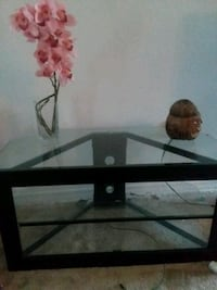 black metal framed glass TV stand Ocala, 34473