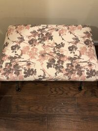 brown wooden framed floral padded ottoman Washington, 20037