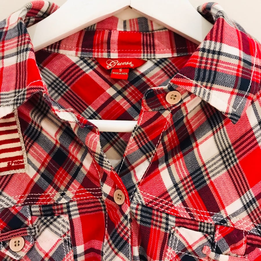 Guess Plaid Shirt Size S NEW