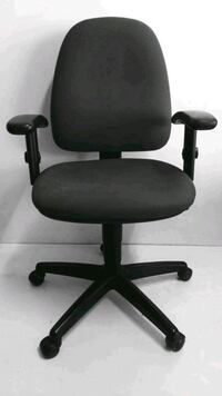 black leather padded rolling chair Bengaluru