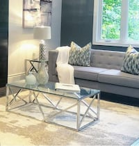New stainless steel chrome coffee table Toronto