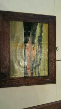 blue and black painting with brown wooden frame Muskegon, 49442