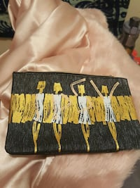 black gray white yellow zip pouch Alexandria, 22314