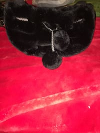 Black faux fur bag, purse