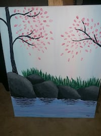 Waters Edge Canvas Painting