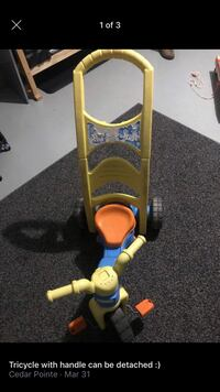 Toddler bike with handle for parents  Edmond, 73003