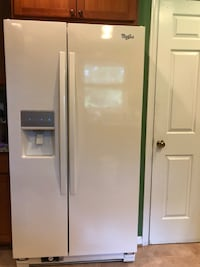 white side by side refrigerator with dispenser North Potomac, 20878