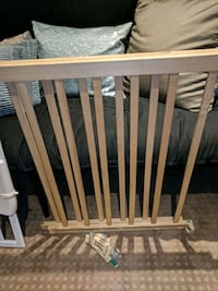 brown wooden safety gate