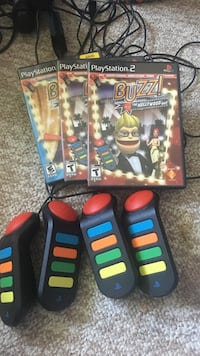 Buzz! PlayStation 2 game and controllers Hamilton, L9C 1B3