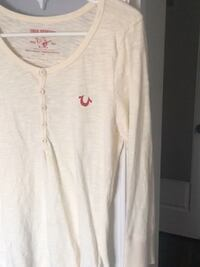 True religion long sleeve cream Oakville, L6H