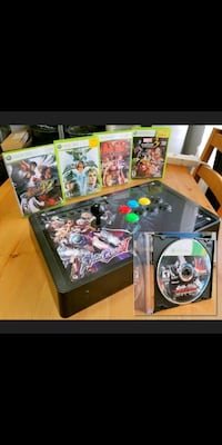 Xbox360 arcade stick, 5 fighting games bundle Toronto, M6C 3V2
