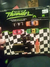 Days of thunder diecast cars, launcher&fuel bottle Goose Creek