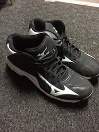 Pair of black-and-white nike basketball shoes Peterborough
